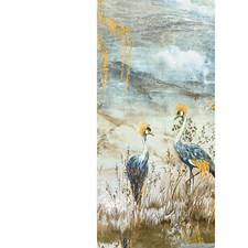 Wheat Blue Wallcovering by Scalamandre Wallpaper