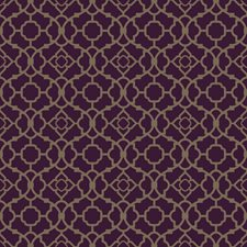 Deep Plum/Shining Gold Small Prints Wallcovering by York