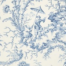 China Blue Wallcovering by Scalamandre Wallpaper