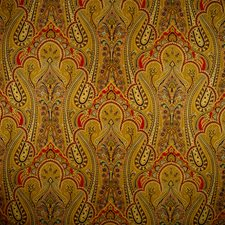 Brown/Gold/Red Hand Printed Wallcovering by Scalamandre Wallpaper