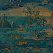 Teal Wallcovering by Scalamandre Wallpaper