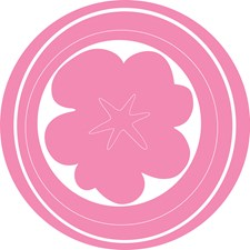 WPC93736 Hooplah (pink) Dot Decals by Brewster
