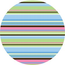 WPD93800 Ribbon Candy Blue Dot Decals by Brewster