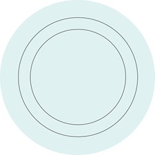 WPD98820 Baby Blue Concentric Dot Decals by Brewster