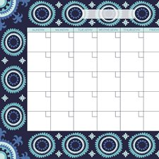 WPE96834 Malaya Monthly Dry Erase Calendar Decal by Brewster