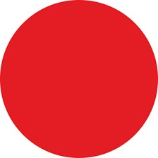 WPE99067 Red Hot Dry Erase Dot Decals by Brewster
