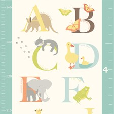 WPG0839 Abc Jungle Growth Chart Decal by Brewster