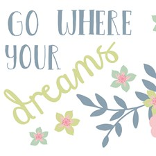 WS40971 Go Where Your Dreams Take You Wall Sticker by Brewster