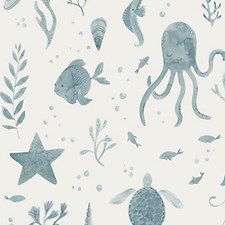 Ocean Blue Wallcovering by Scalamandre Wallpaper