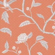 Orange/Grey Wallcovering by Scalamandre Wallpaper