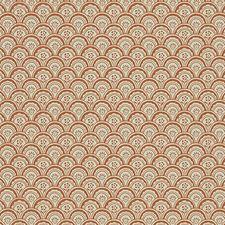 Orange/Beige Wallcovering by Scalamandre Wallpaper