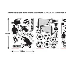 WT44906 Football Wall Art Kit by Brewster