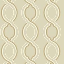 Beige/Cream/Gold Geometrics Wallcovering by York