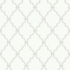 Warm White/Gray Trellis Wallcovering by York