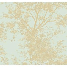 Blue Trees Wallcovering by York